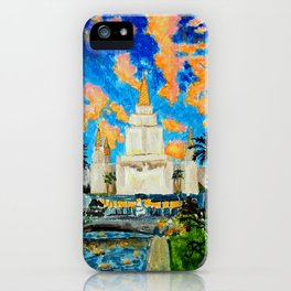 Oakland California LDS Temple iPhone Case