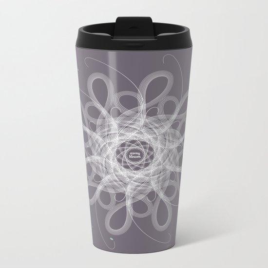 Ornament - Stormy Blossom Metal Travel Mug