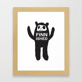 FINNISHED BEAR Framed Art Print