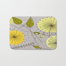 Mid-Century Modern Floral Bath Mat