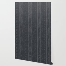 Moroccan Stripe in Charcoal Wallpaper
