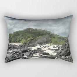 sand and rocks of the Galapagos Rectangular Pillow