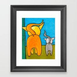 Kitty Butties Framed Art Print