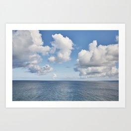 Idyllic Autumn Cornish seascape. Art Print