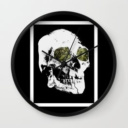 Money Skull Wall Clock