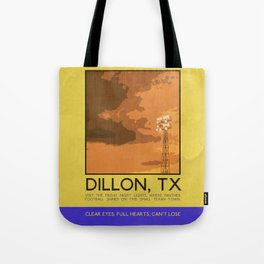 Silver Screen Tourism: DILLON, TX / FRIDAY NIGHT LIGHTS Tote Bag