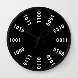 Binary Numerals Large Clock Wall Clock