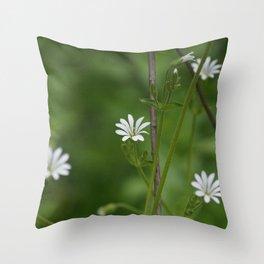 flowers in macro Throw Pillow