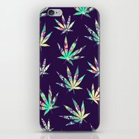 cannabis iPhone & iPod Skins featuring Merry Cannabis by GypsYonic