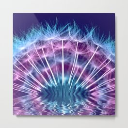Dandelion colorful 234 Metal Print