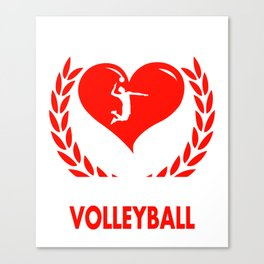 My Heart Beats For Volleyball Canvas Print