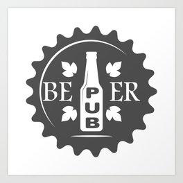 Pub Craft Beer Bottles style Fashion Modern Design Print! Art Print