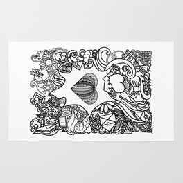 love and doodles Rug