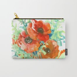 Red Poppies, Red flowers, French Country Carry-All Pouch