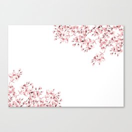 Japanese art of cherry blossoms Canvas Print
