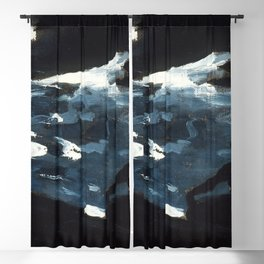 Winslow Homer's Moonlight on the Water (1890s) Blackout Curtain