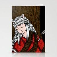 inuyasha Stationery Cards featuring Inuyasha by nu boniglio