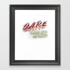 DARE (DOUBLE VISION) Framed Art Print
