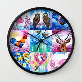 Imaginary Menagerie Wall Clock