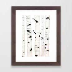birch  watercolor Framed Art Print