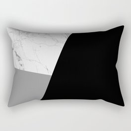 Black And White Geometric Rectangular Pillow