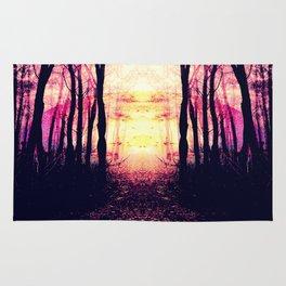 Path to Imagination : Mauve Pink Purple Rug