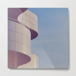 Structured Waves Metal Print