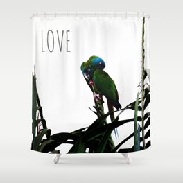 Something about Love   Tropical nature photograph Shower Curtain