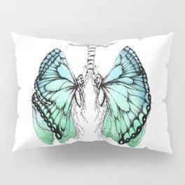 Butterfly Lungs Blue Green Pillow Sham
