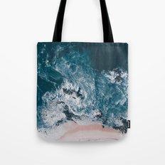 I love the sea - written on the beach Tote Bag