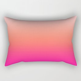 Gradient Ombre Living Coral Millennial Plastic Pink Pattern Peachy Orange Soft Trendy Cute Texture Rectangular Pillow