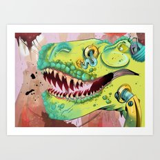 Sci-fi Dinosaur. Art Print