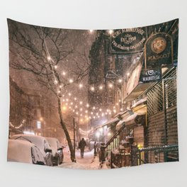 Snow - New York City - East Village Wall Tapestry