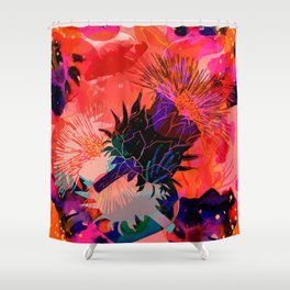 Floral constellation Shower Curtain