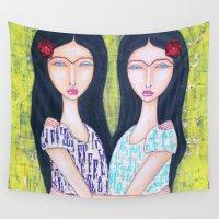 gemini Wall Tapestries featuring Gemini by Natalie Briney