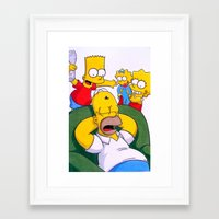 simpsons Framed Art Prints featuring Simpsons by Brian David