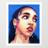 fka twigs Art Prints featuring Fka Twigs by Passion for Pencils