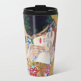 The Kiss by Kustav Klimt - Version by Nymphainna Travel Mug