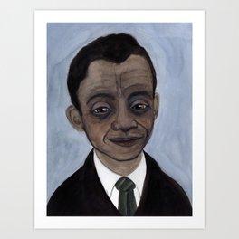 James Baldwin Literary Portrait Art Print