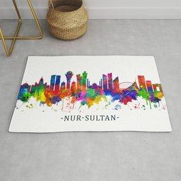 Nur-Sultan Kazakhstan Skyline Rug
