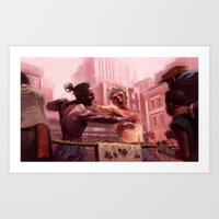 Feel the Power of Warrior Art Print