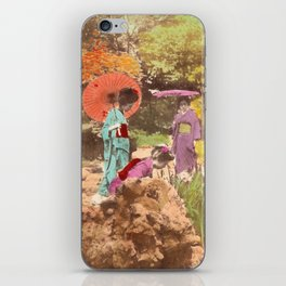 Geisha in the garden iPhone Skin