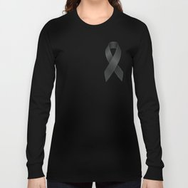 Satin black ribbon Long Sleeve T-shirt