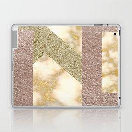 rosegold glitter -marble Laptop & iPad Skin