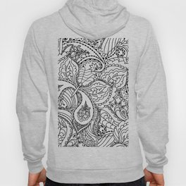 Black white hand painted watercolor butterfly abstract floral Hoody