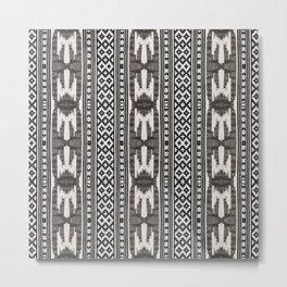 Tribal Textile Metal Print