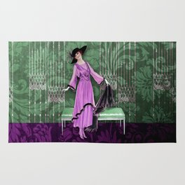 1913 LUXE - VINTAGE FASHION: SPRING LILAC Rug