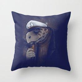 Turtlenecked Sea Captain Throw Pillow