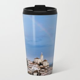 Rainbow in Cadaqués - horizontal Travel Mug