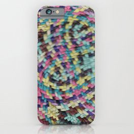 woven pattern iPhone Case
